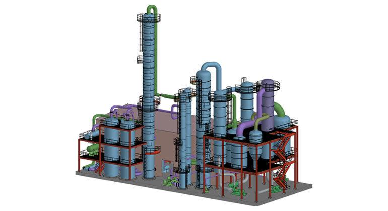 3d model of a fuel ethanol plant