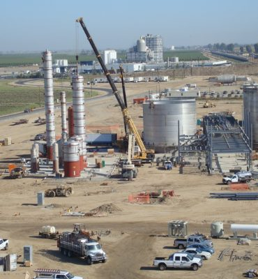 outdoor oil tank construction process