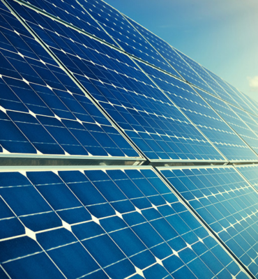 blue solar panels on sunlight higher resoluton